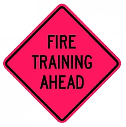 Fire Training Sign Graphic