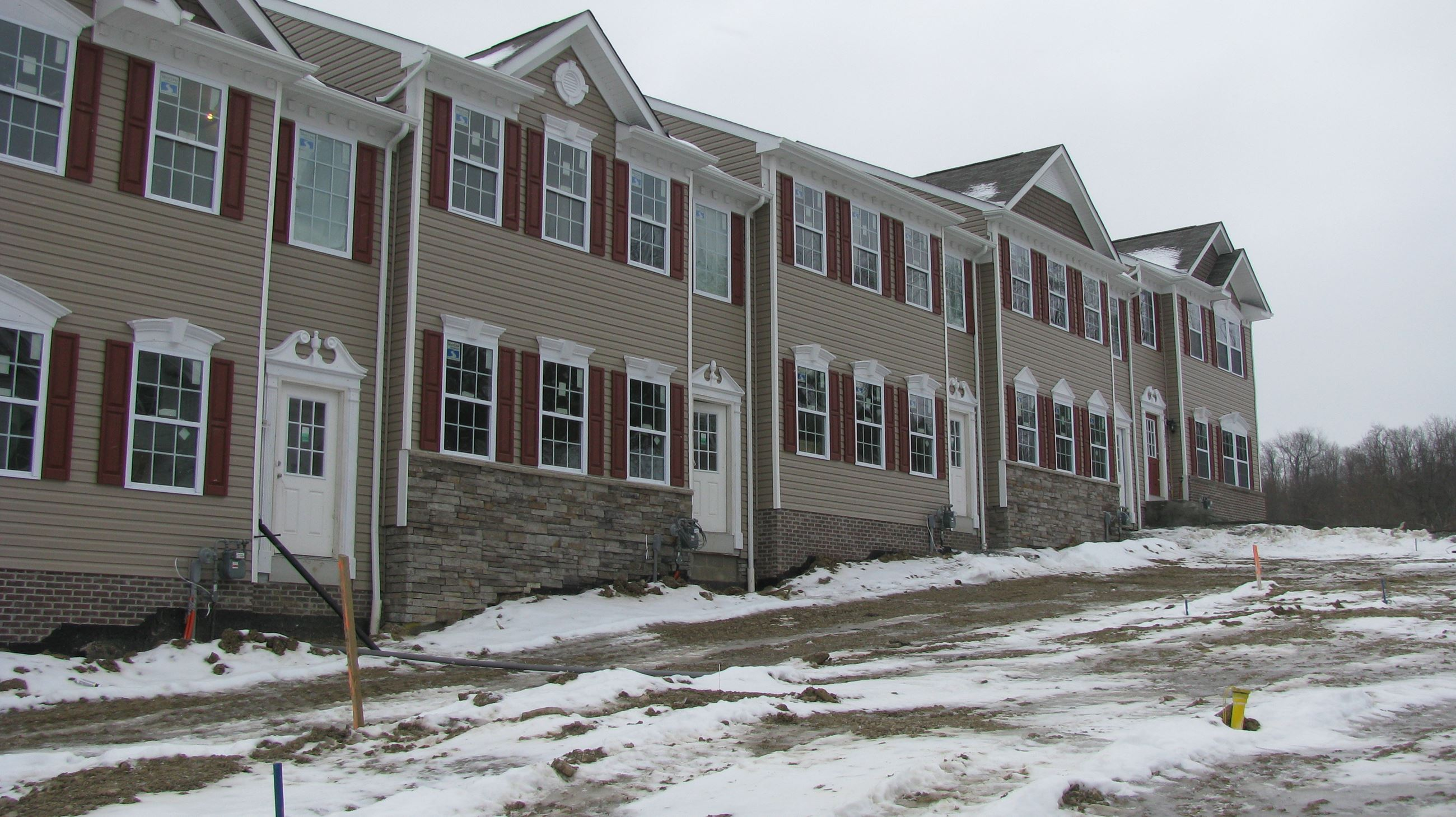 Townhomes in Winter