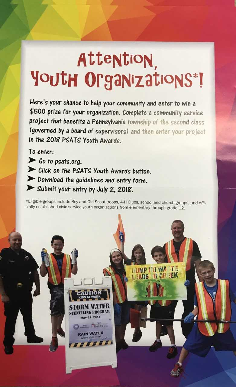 PSATS Youth Awards Information Poster
