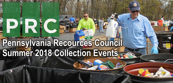 Pennsylvania Resources Council (PRC) Summer 2018 Collection Events Graphic