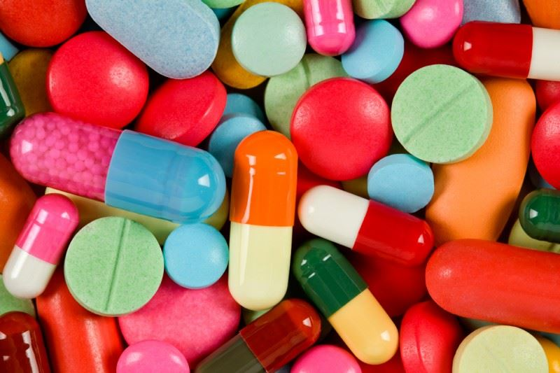 Photograph of assorted pills