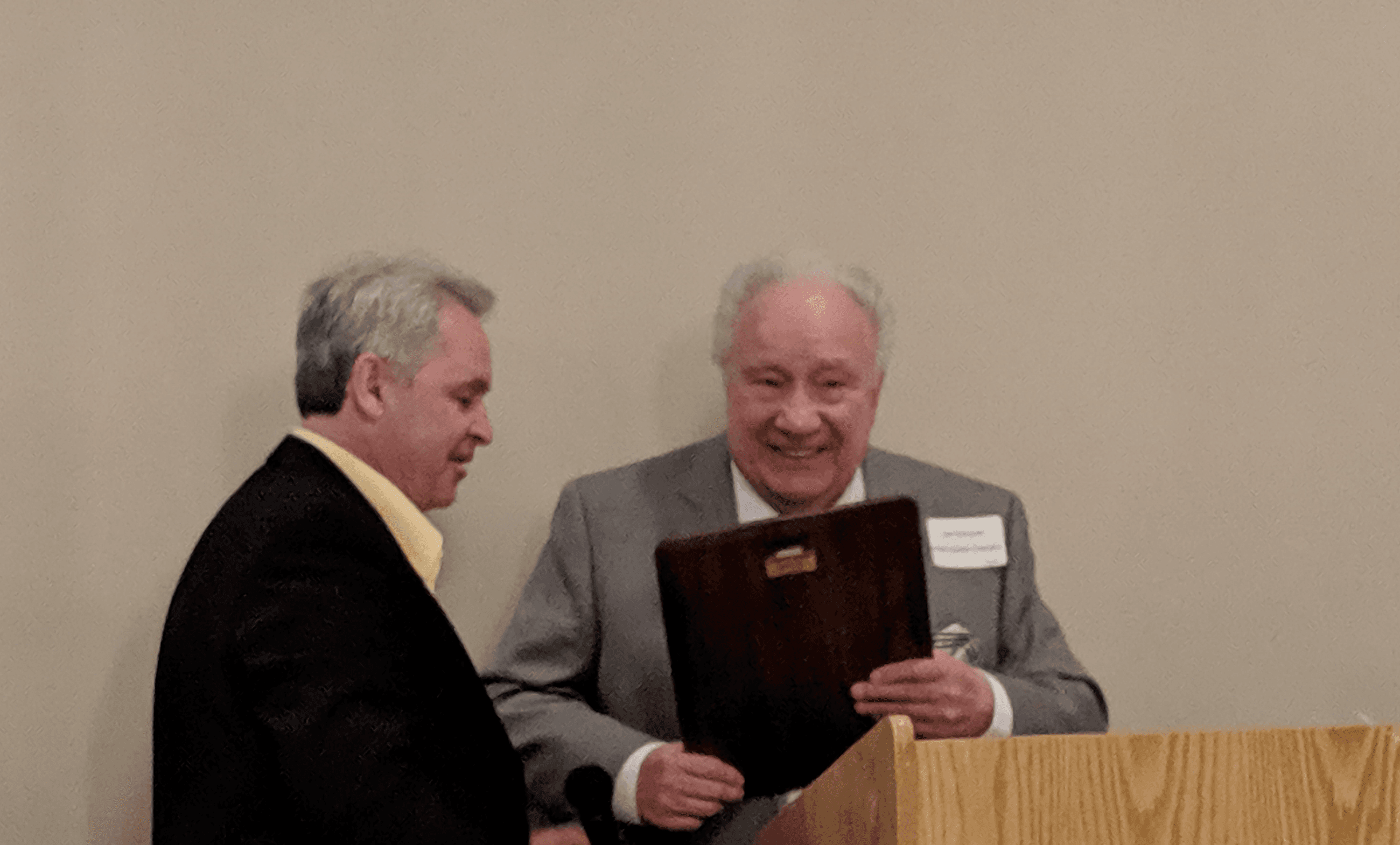 Photo of Jim Morosetti Receiving COG Award on 5-16-19