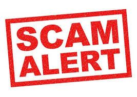 Graphic with the words SCAM ALERT