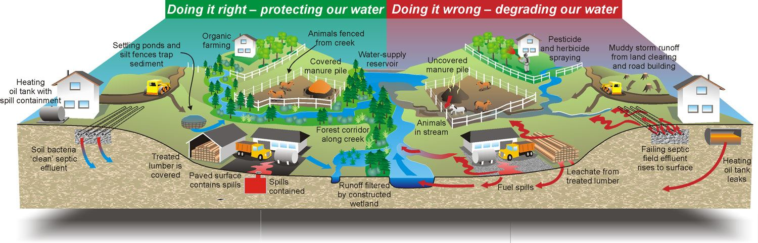Protecting our Water Graphic