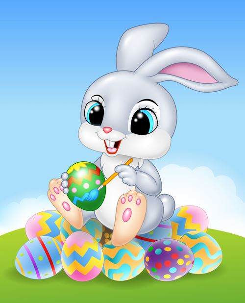 Cartoon Drawing of the Easter Bunny