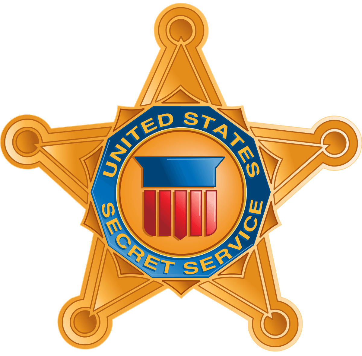 United States Secret Service Star Shaped Logo