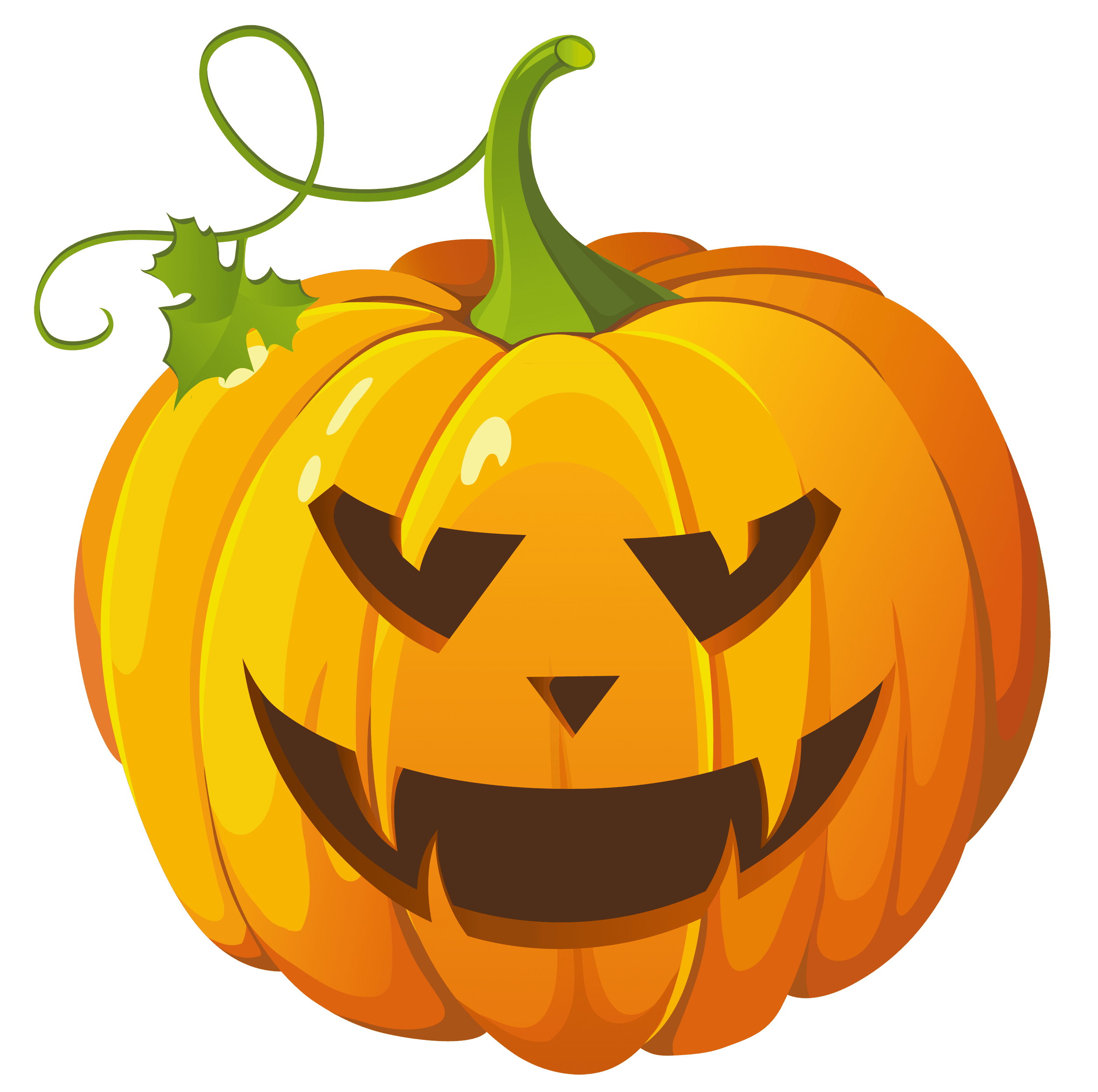 Clip art image of a carved jack o' lantern